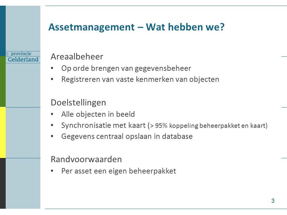Assetmanagement – Wat hebben we? Synchronisatie bomen grootschalige kaart en beheersysteem 4