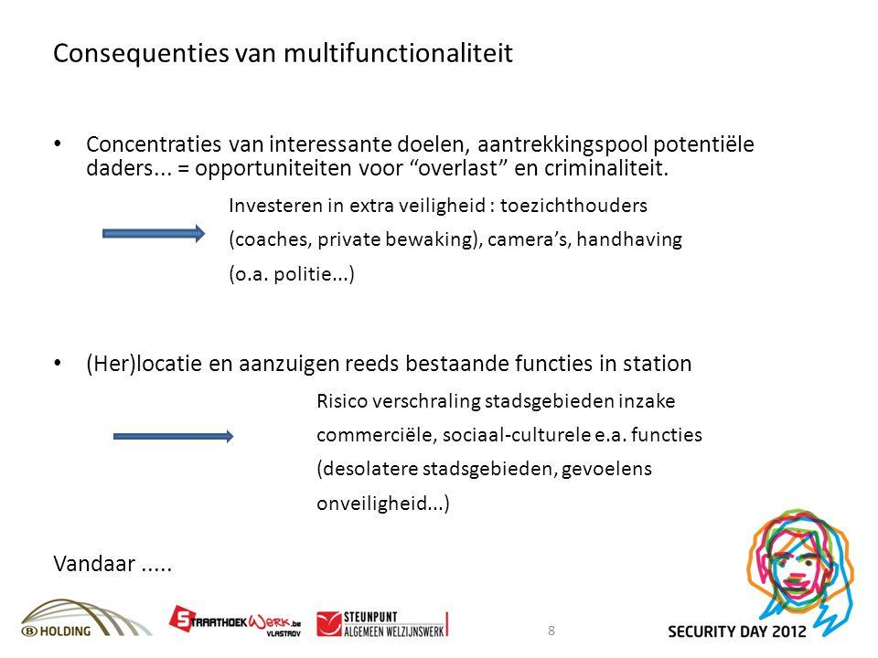 Consequenties van multifunctionaliteit Concentraties van interessante doelen, aantrekkingspool potentiële daders...