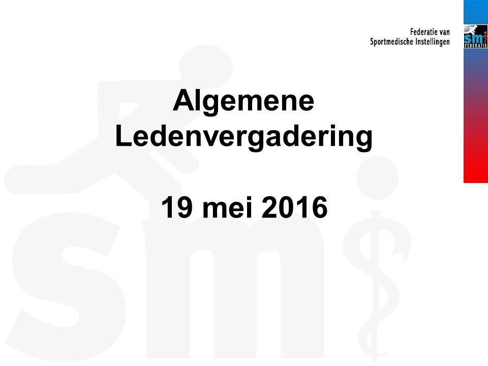 Algemene Ledenvergadering 19 mei 2016