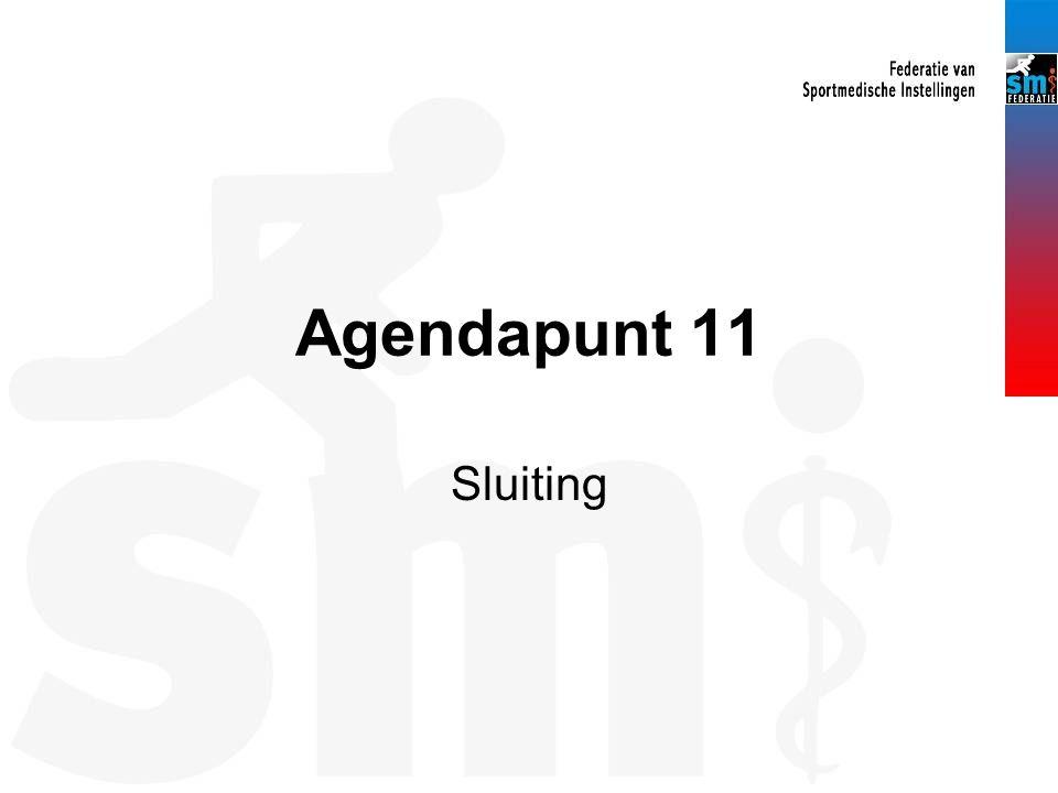 Agendapunt 11 Sluiting