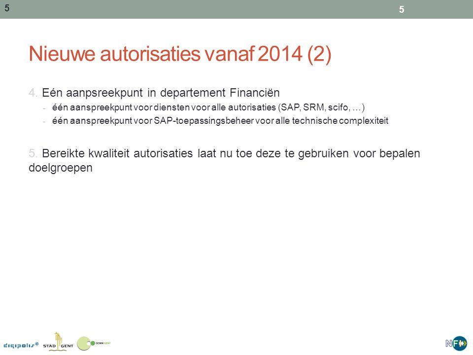 5 Nieuwe autorisaties vanaf 2014 (2) 4.