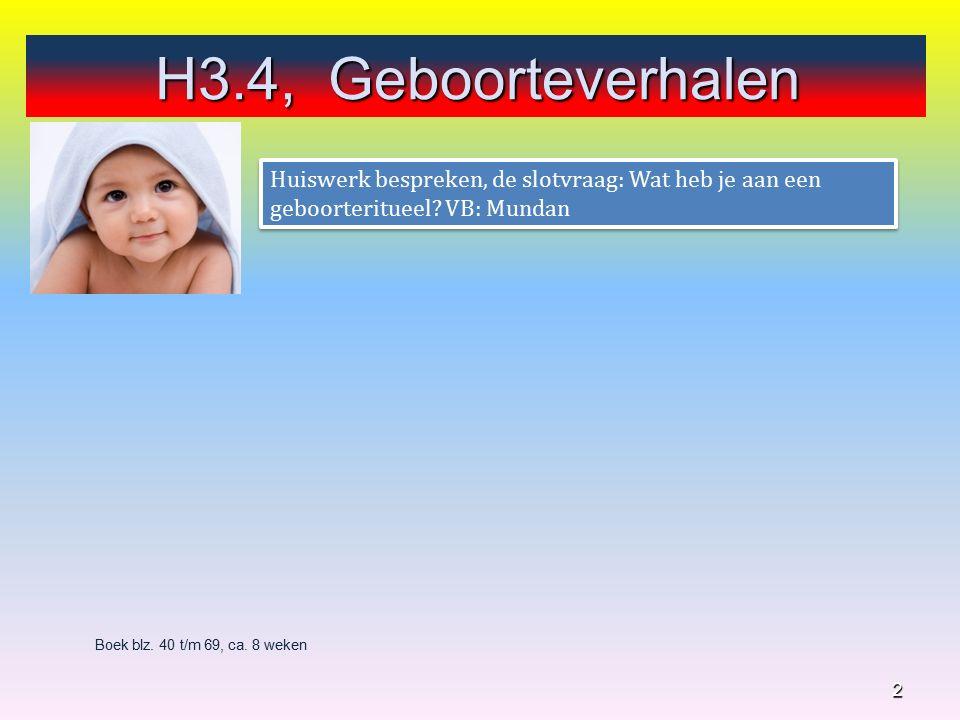 H3, Nieuw begin Denk aan de sociale competentie 13 4.