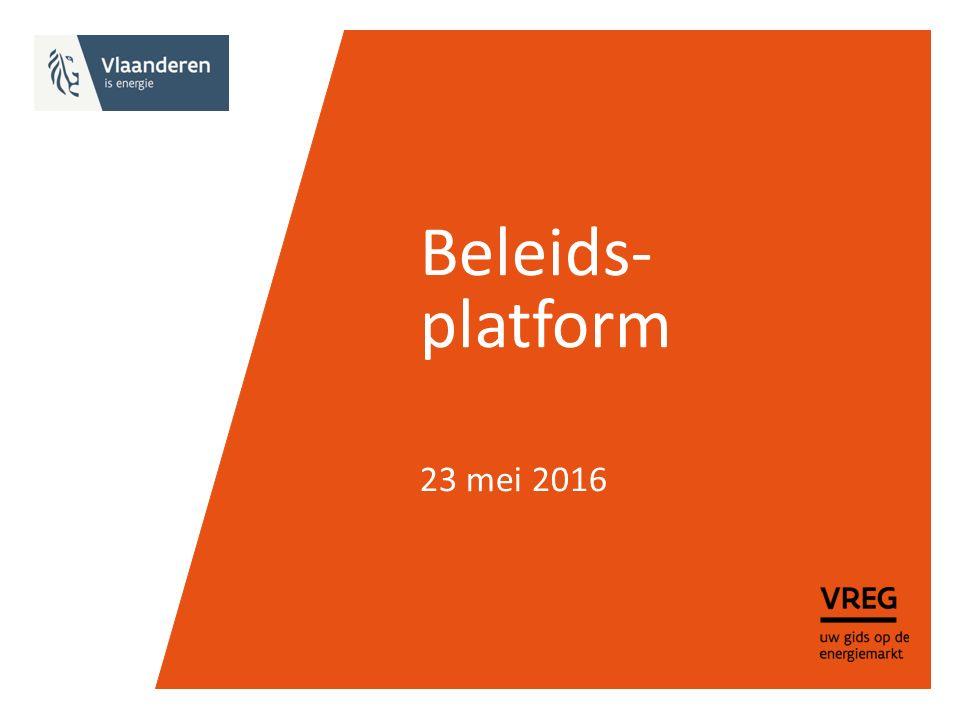 Beleids- platform 23 mei 2016