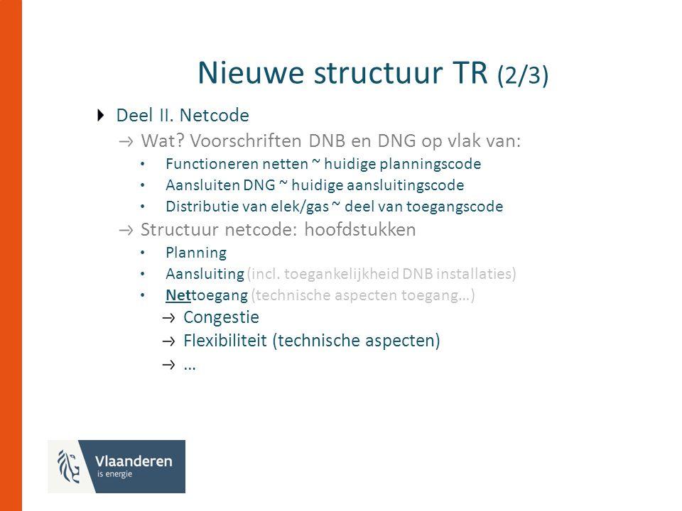 Nieuwe structuur TR (2/3) Deel II. Netcode Wat.