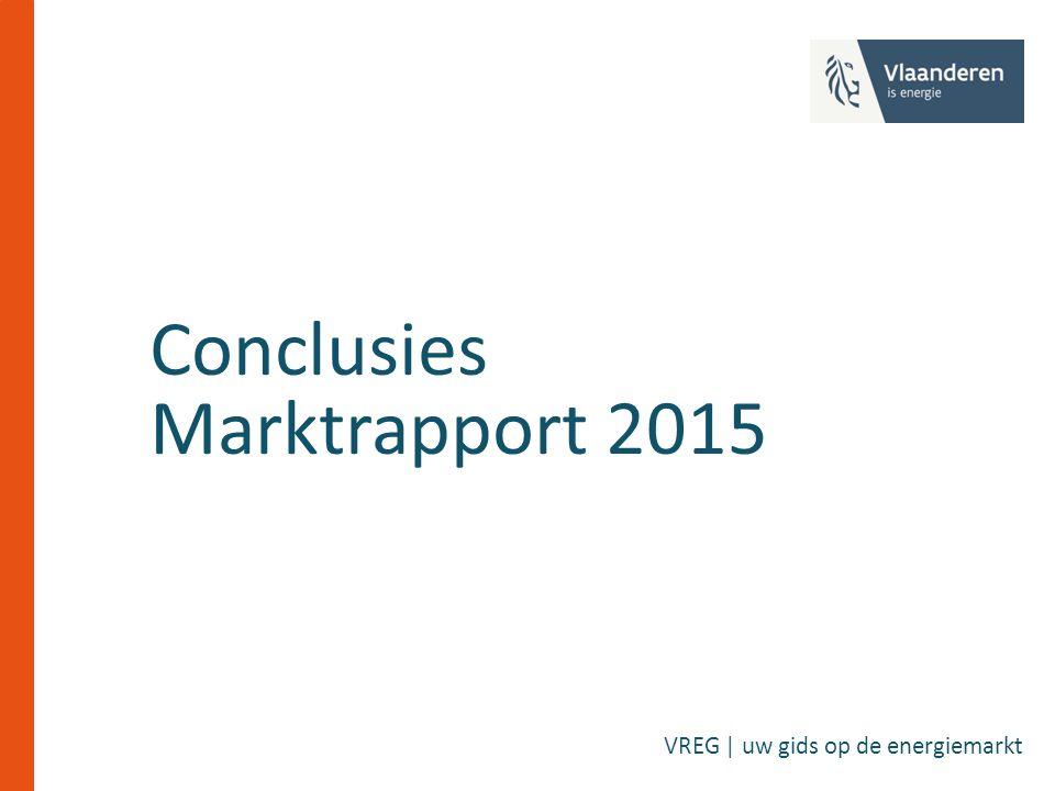 Conclusies Marktrapport 2015 VREG | uw gids op de energiemarkt