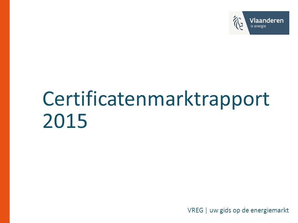 Certificatenmarktrapport 2015 VREG | uw gids op de energiemarkt