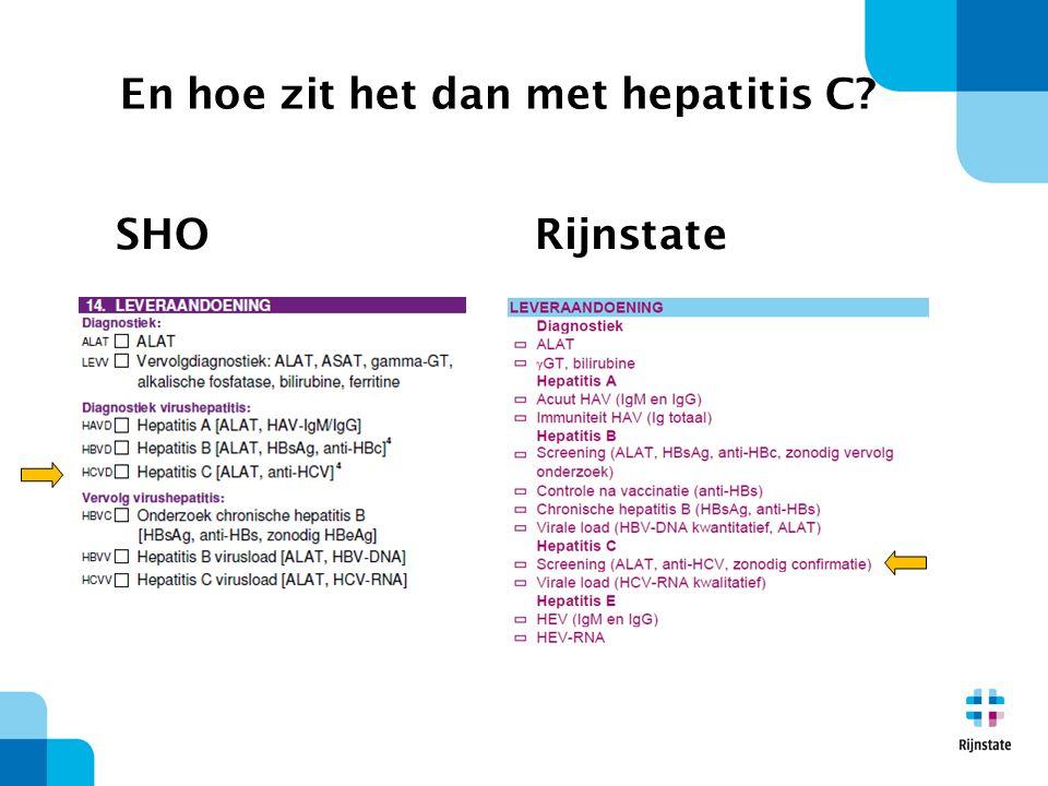 SHORijnstate En hoe zit het dan met hepatitis C