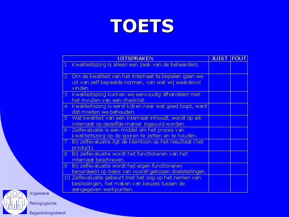 Algemene Pedagogische Begeleidingsdienst TOETS