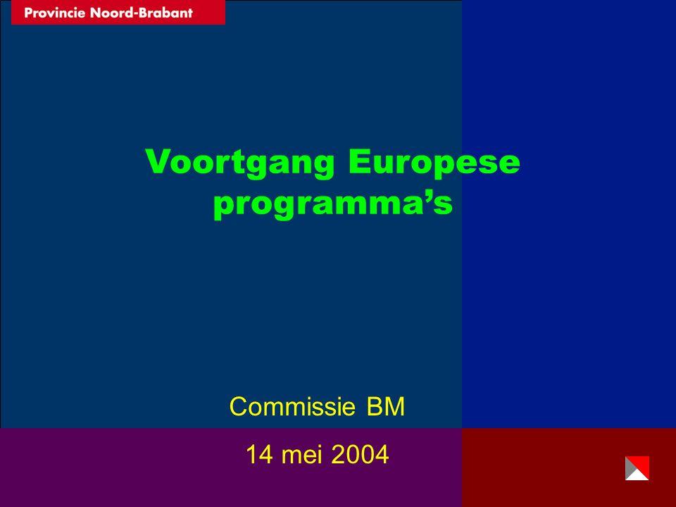 Voortgang Europese programma's Commissie BM 14 mei 2004