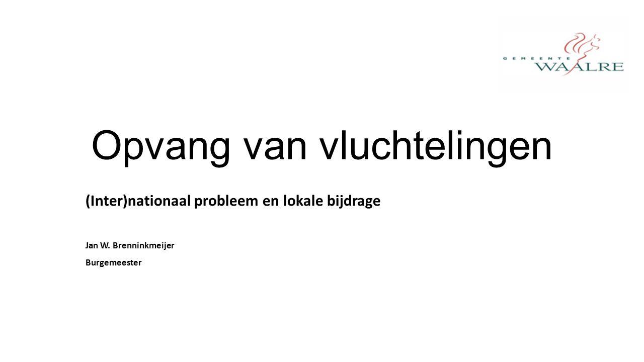 Opvang van vluchtelingen (Inter)nationaal probleem en lokale bijdrage Jan W.