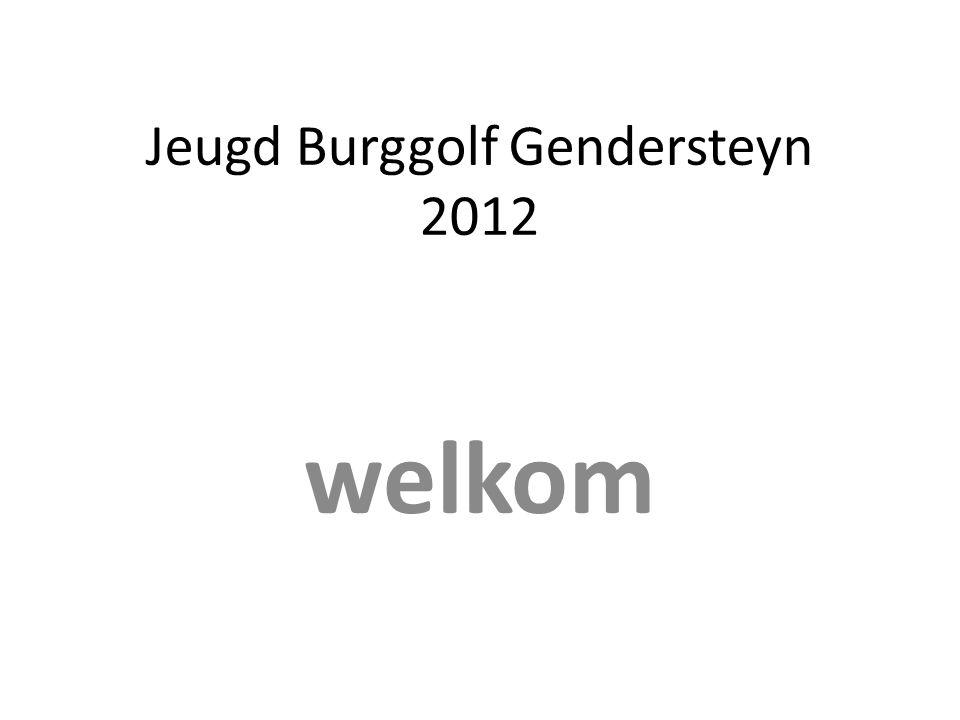 Jeugd Burggolf Gendersteyn 2012 welkom