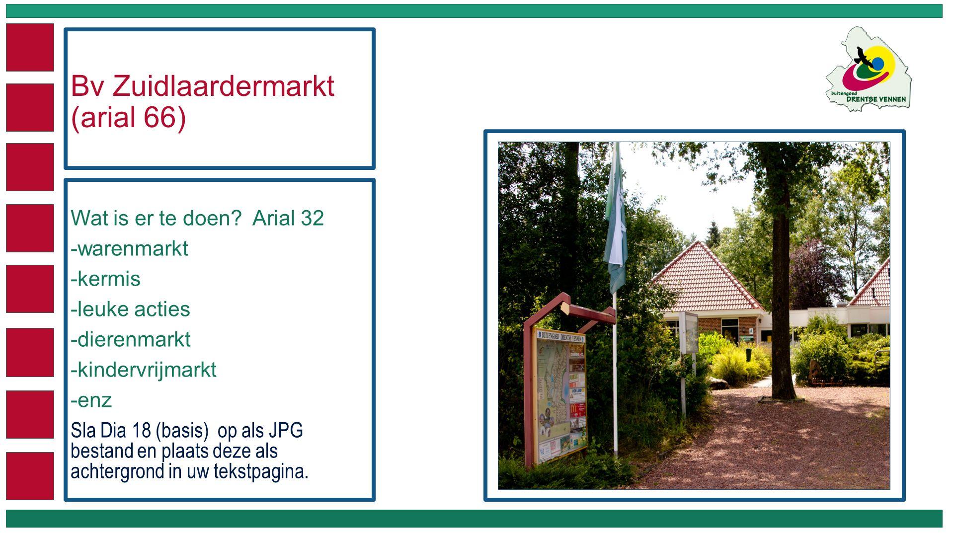 Bv Zuidlaardermarkt (arial 66) Wat is er te doen.