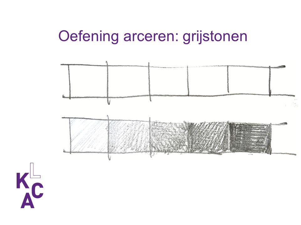 Oefening arceren: grijstonen