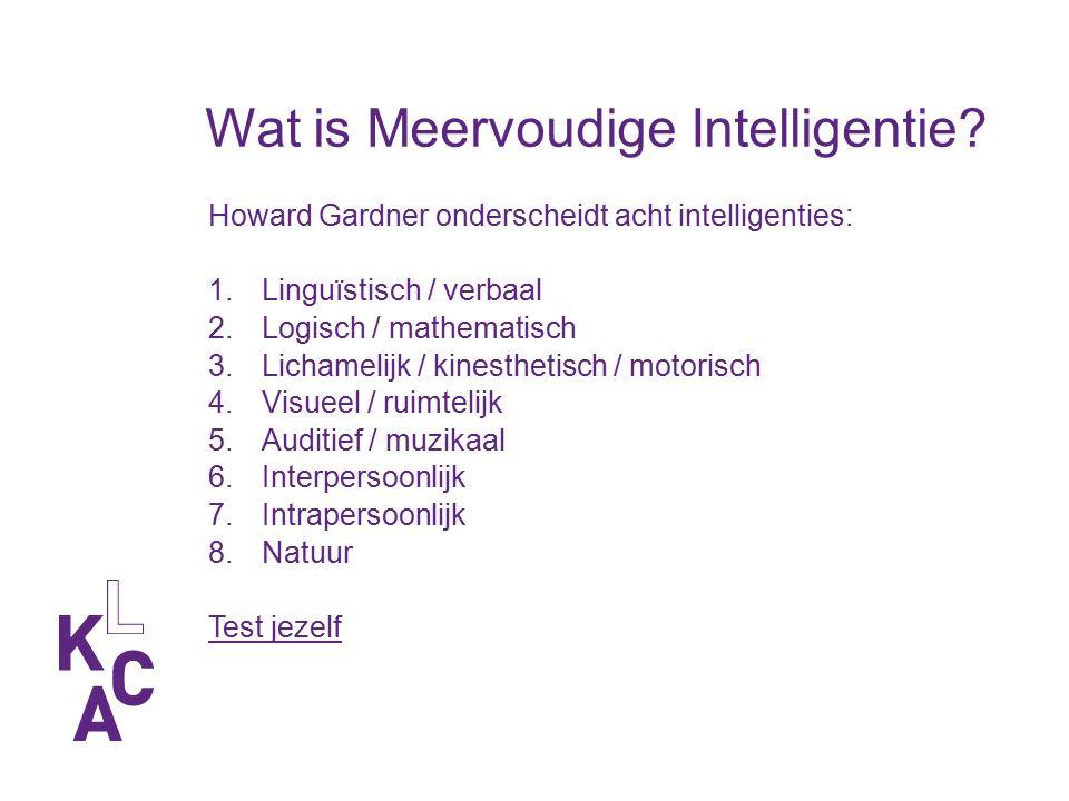 ICC Module Meervoudige Intelligenties Bijeenkomst 2 Datum Naam trainer / instelling