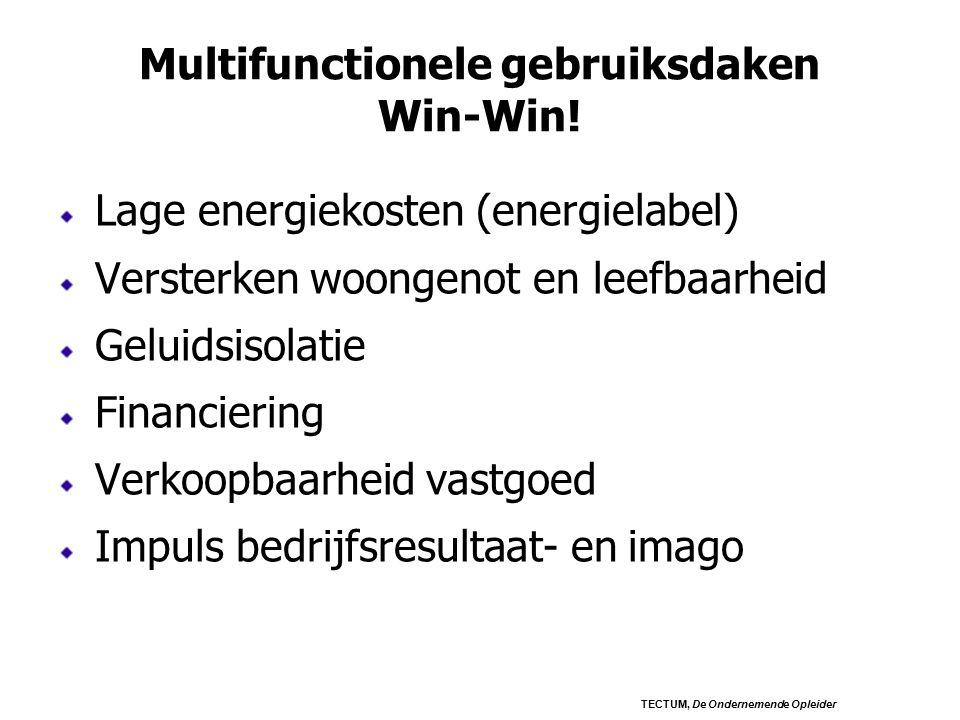 Multifunctionele gebruiksdaken Win-Win.