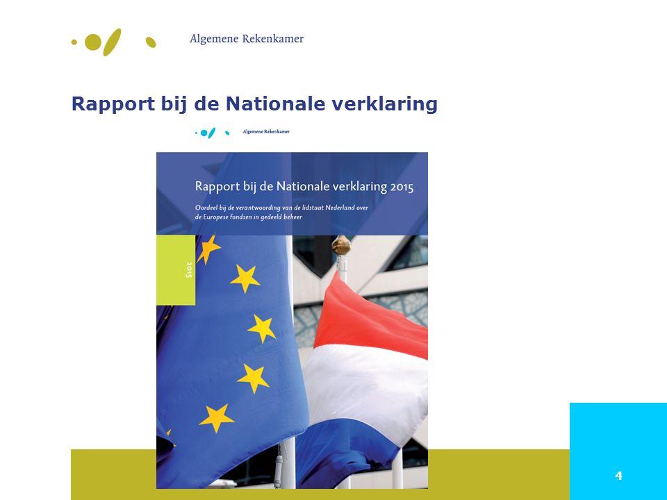 4 Rapport bij de Nationale verklaring