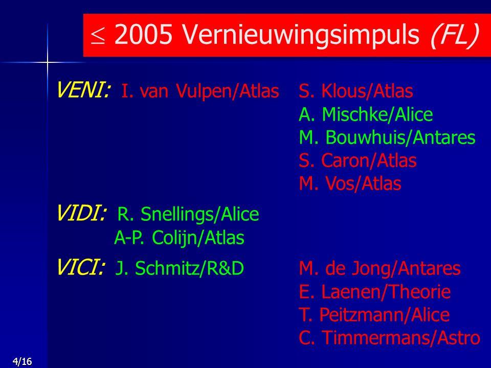 5/16 VENI: S.Klous/Atlas5 september 2006 VIDI: N.