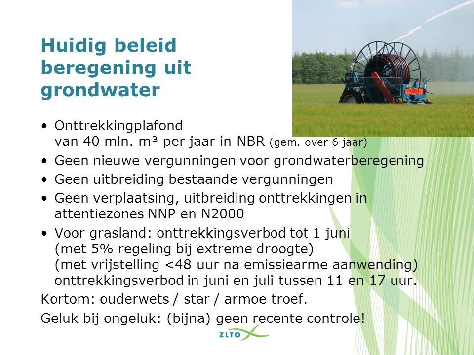 Grondwaterberegening NBR aantal vergunningen > 10 m³/uur: 8270