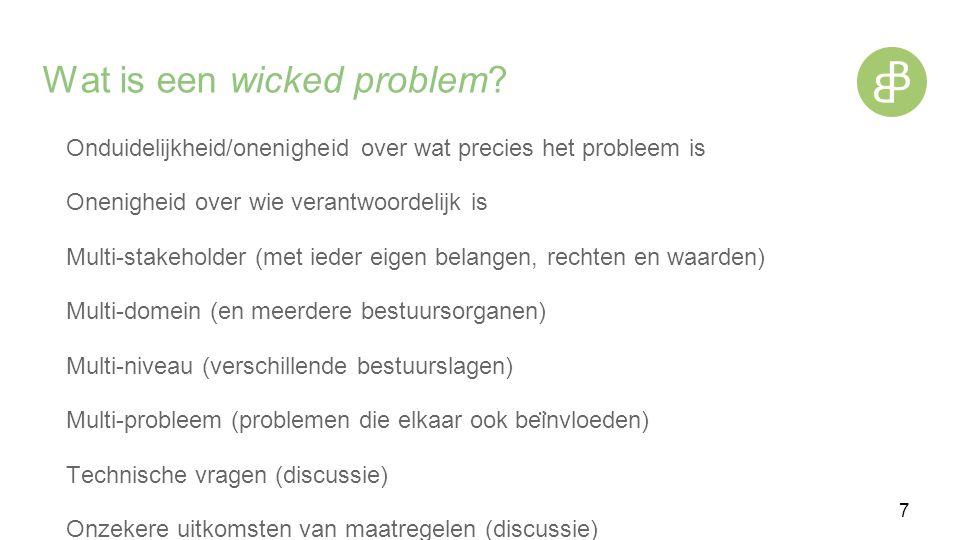 Wat is een wicked problem.