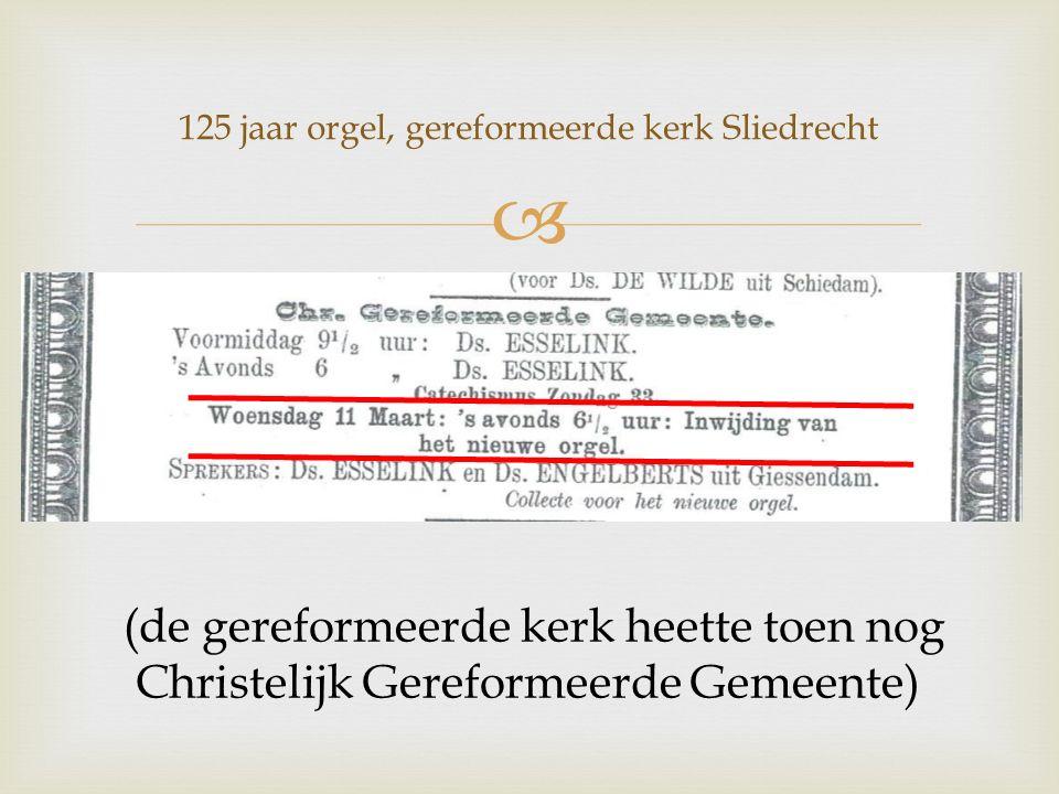 (de gereformeerde kerk heette toen nog Christelijk Gereformeerde Gemeente)