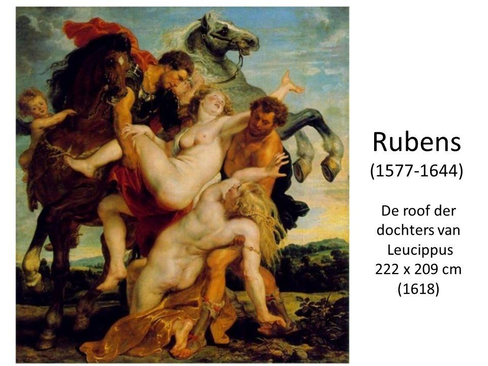 Rubens (1577-1644) De roof der dochters van Leucippus 222 x 209 cm (1618)