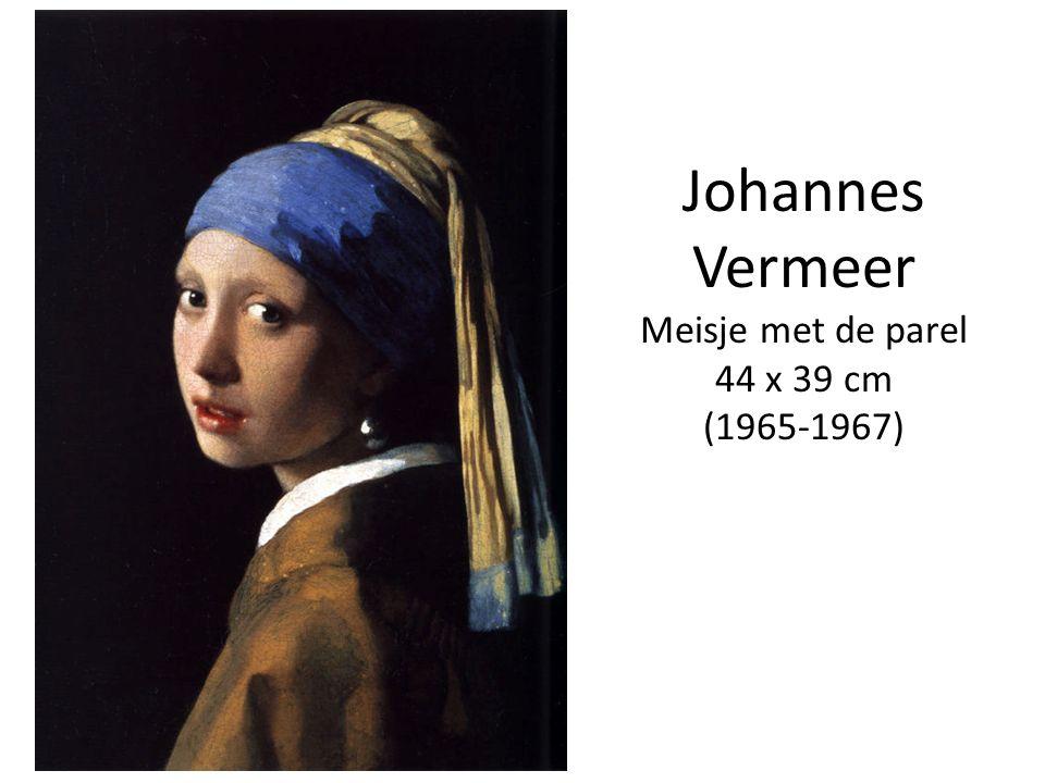 Johannes Vermeer Meisje met de parel 44 x 39 cm (1965-1967)