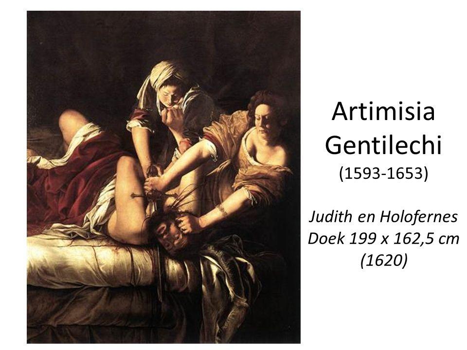 Artimisia Gentilechi (1593-1653) Judith en Holofernes Doek 199 x 162,5 cm (1620)