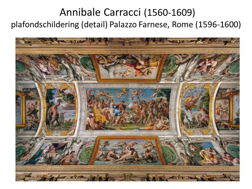 Annibale Carracci (1560-1609) plafondschildering (detail) Palazzo Farnese, Rome (1596-1600)