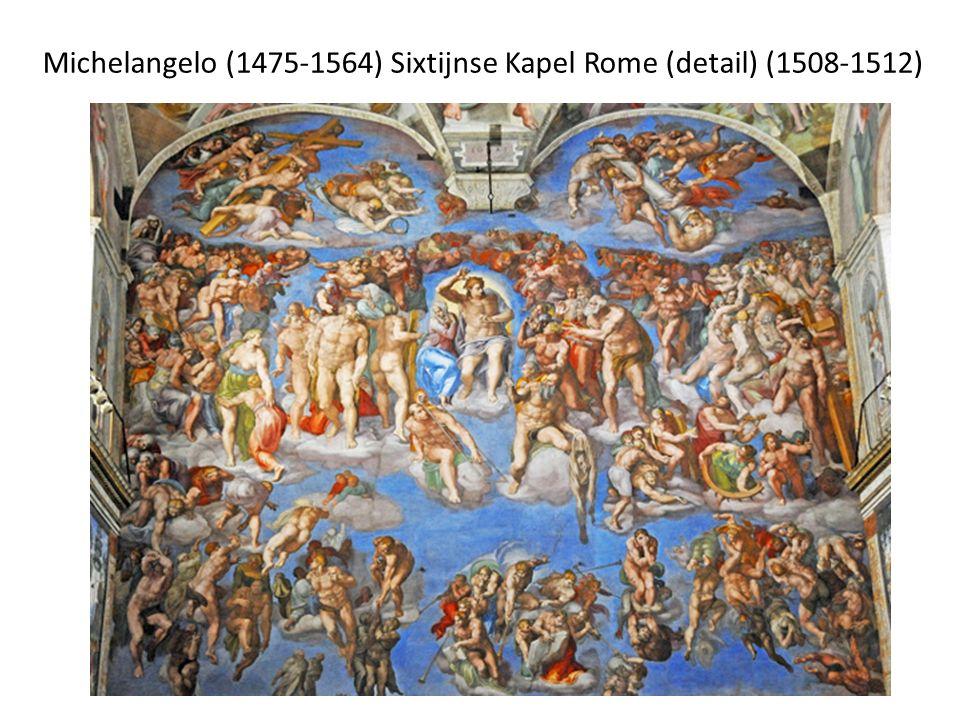 Michelangelo (1475-1564) Sixtijnse Kapel Rome (detail) (1508-1512)