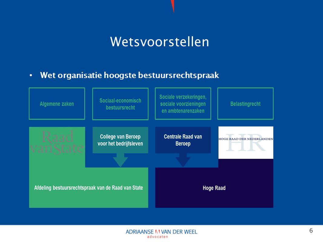 Wetsvoorstellen Wet organisatie hoogste bestuursrechtspraak 6