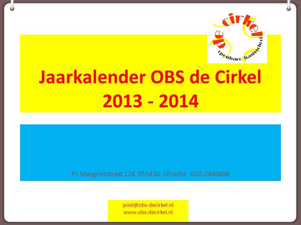 Jaarkalender OBS de Cirkel 2013 - 2014 Pr.