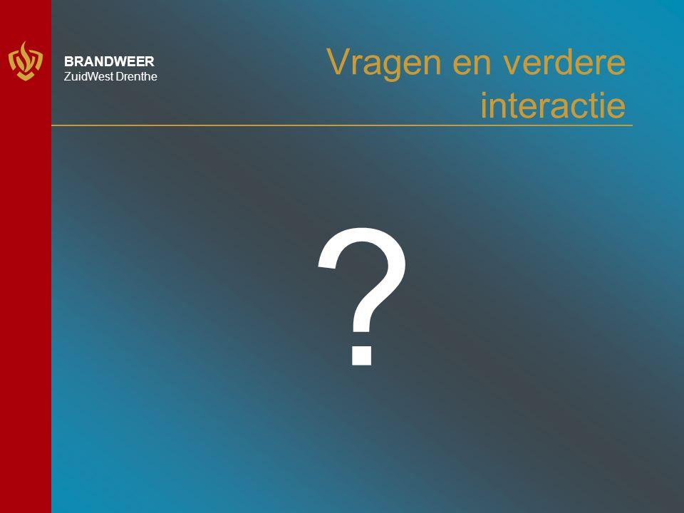 BRANDWEER ZuidWest Drenthe Vragen en verdere interactie