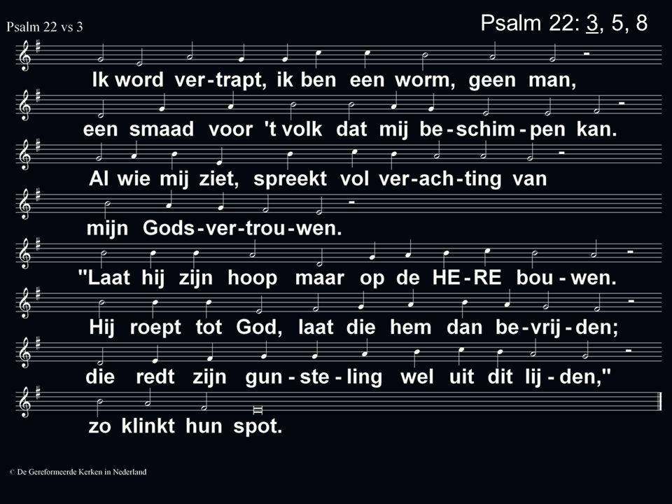 Psalm 22: 3, 5, 8
