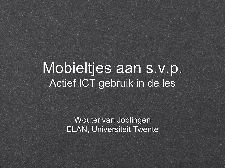 Mobieltjes aan s.v.p.