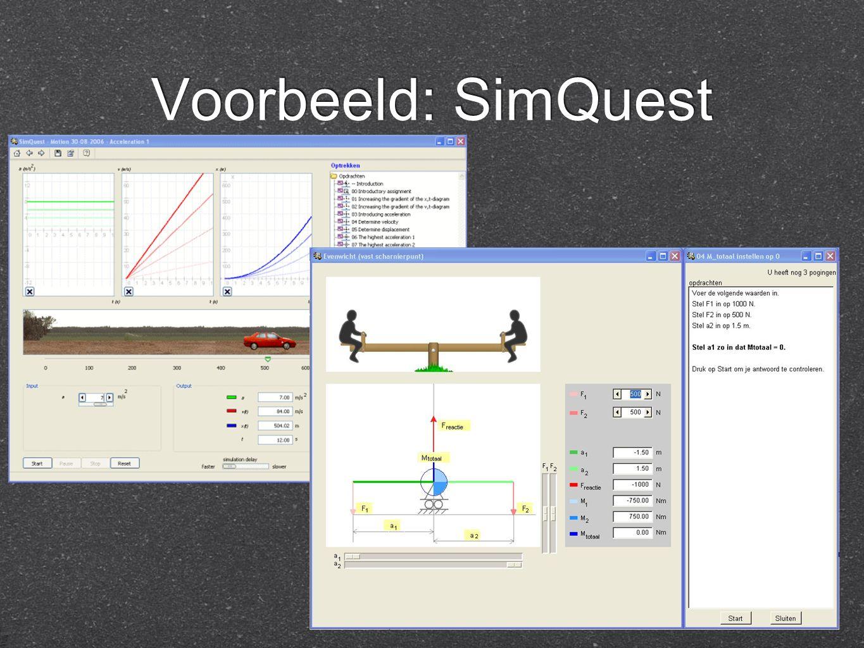 Voorbeeld: SimQuest
