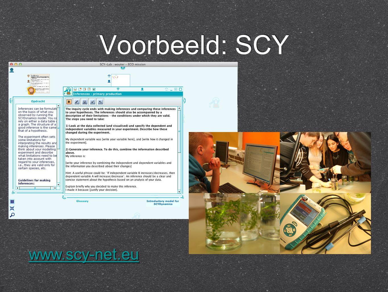 Voorbeeld: SCY www.scy-net.eu