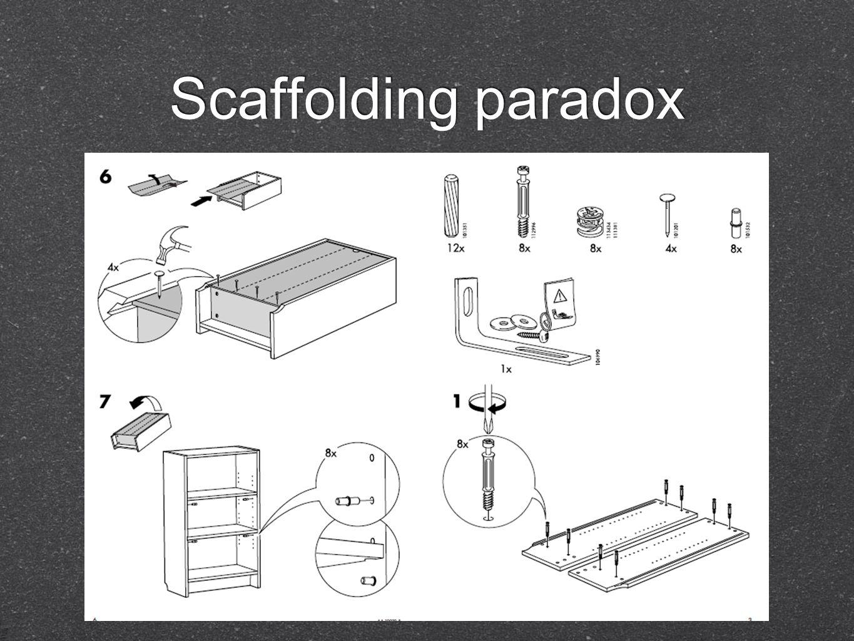 Scaffolding paradox