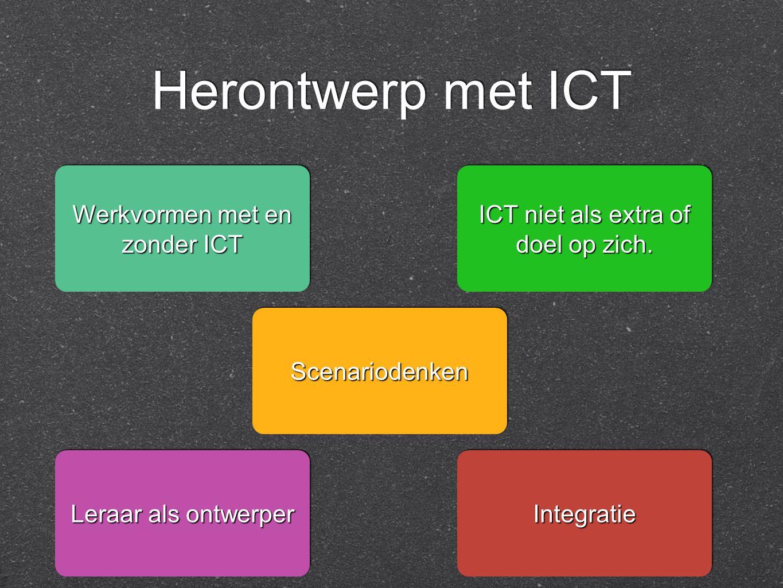 Herontwerp met ICT ICT niet als extra of doel op zich.
