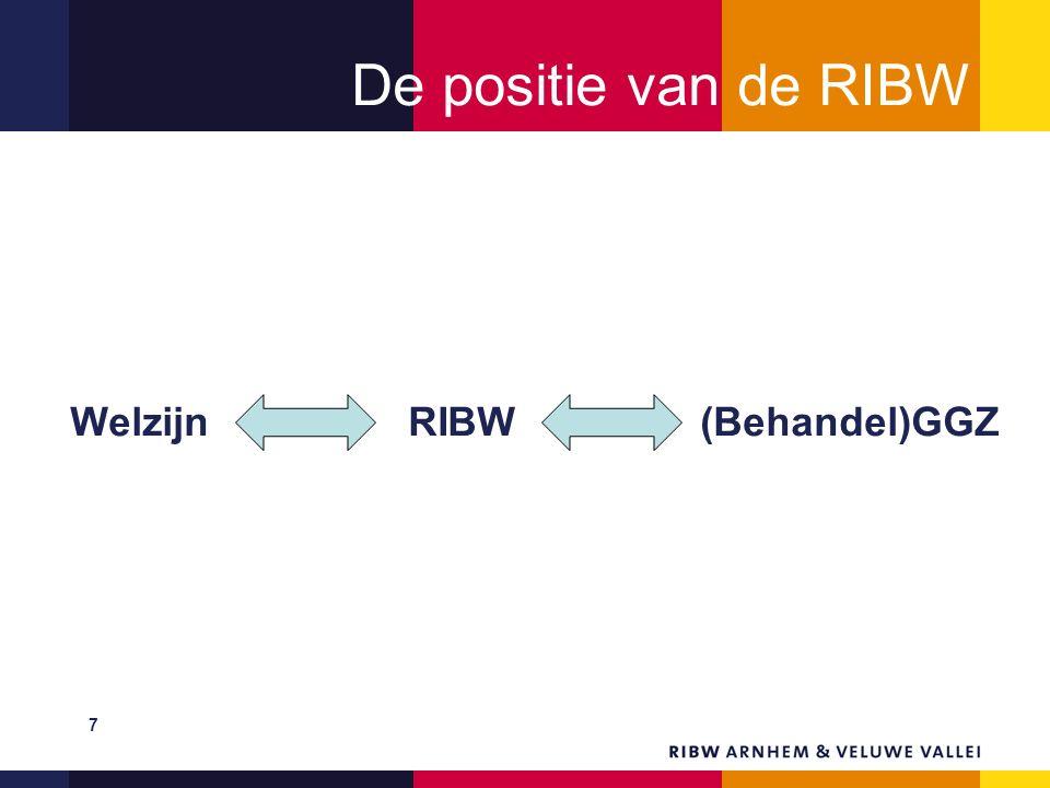 De positie van de RIBW Welzijn RIBW(Behandel)GGZ 7