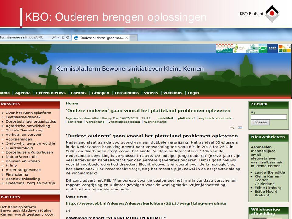 5 Regionaal Beraad Organogram KBO-Brabant leden Afdeling Cluster binnen een gemeente KRING ALGEMEEN BESTUURBUREAU ALGEMENE VERGADERING KBO: Ouderen br