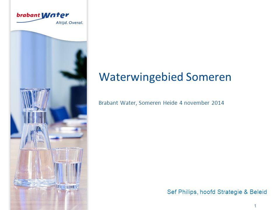Waterwingebied Someren Brabant Water, Someren Heide 4 november 2014 1 Sef Philips, hoofd Strategie & Beleid