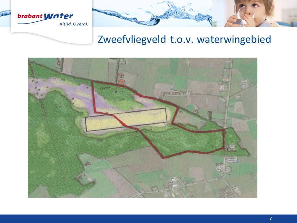 Zweefvliegveld t.o.v. waterwingebied 7