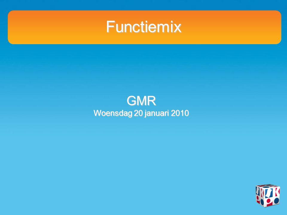 Functiemix GMR Woensdag 20 januari 2010