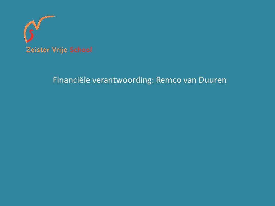 Financiële verantwoording: Remco van Duuren
