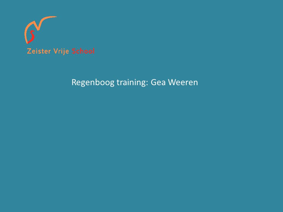 Regenboog training: Gea Weeren
