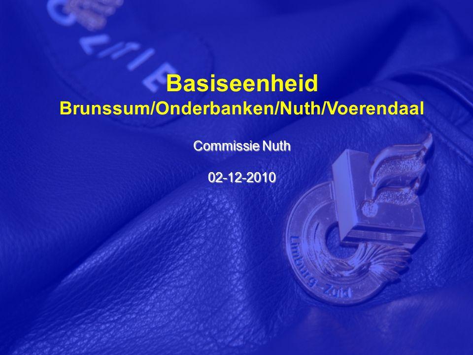 Basiseenheid Brunssum/Onderbanken/Nuth/Voerendaal Commissie Nuth 02-12-2010