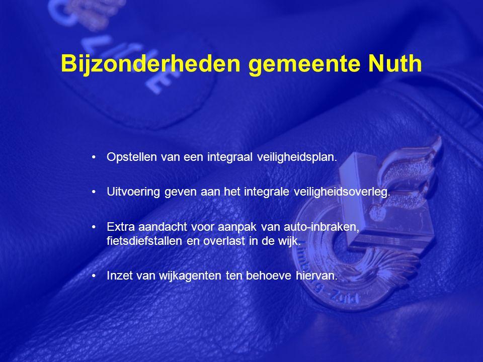 Bijzonderheden gemeente Nuth Opstellen van een integraal veiligheidsplan.