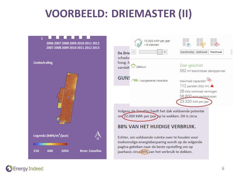 VOORBEELD: DRIEMASTER (II) 6