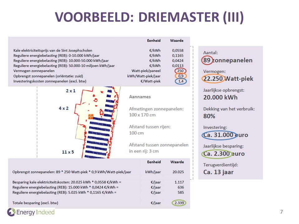 VOORBEELD: DRIEMASTER (III) 7