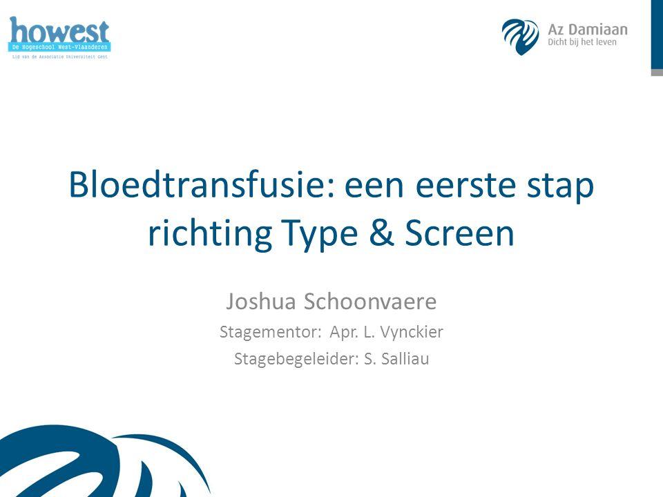Overzicht Doelstelling & inleiding Methode o Bloedgroepbepaling o Crossmatch o Type & Screen Resultaten o Crossmatch vs Type & Screen o DiaMed vs Ortho Clinical Diagnostics Conclusie 2